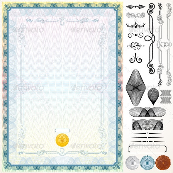 Certificate Template and Design Elements - Backgrounds Decorative