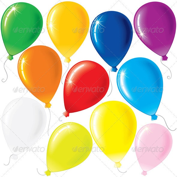 Party Balloons - Objects Vectors