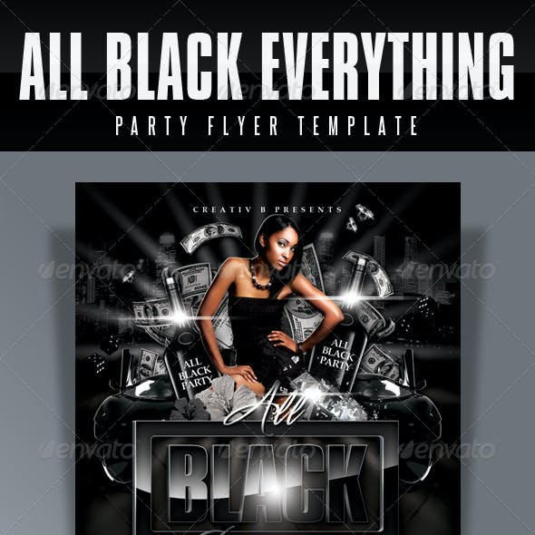All Black Everything Party Flyer Template