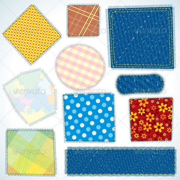 Set of Cloth Patches
