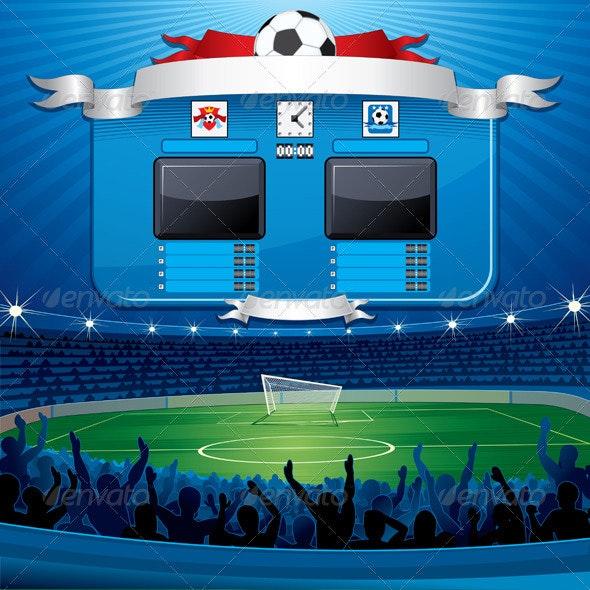 Vector Soccer Scoreboard - Sports/Activity Conceptual