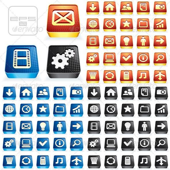 Web Buttons Variation - Web Elements Vectors