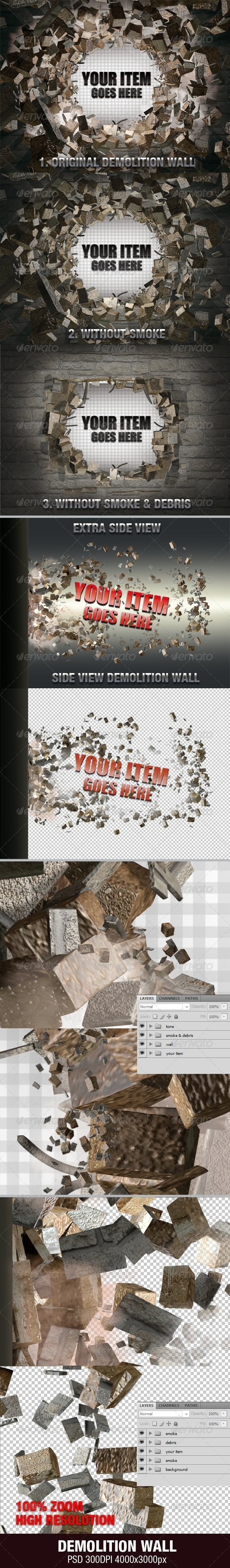 Demolition Wall - Miscellaneous Backgrounds