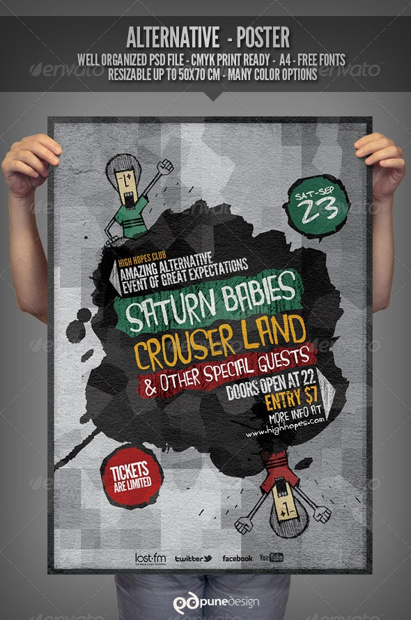 Alternative - Flyer/Poster Template - Concerts Events