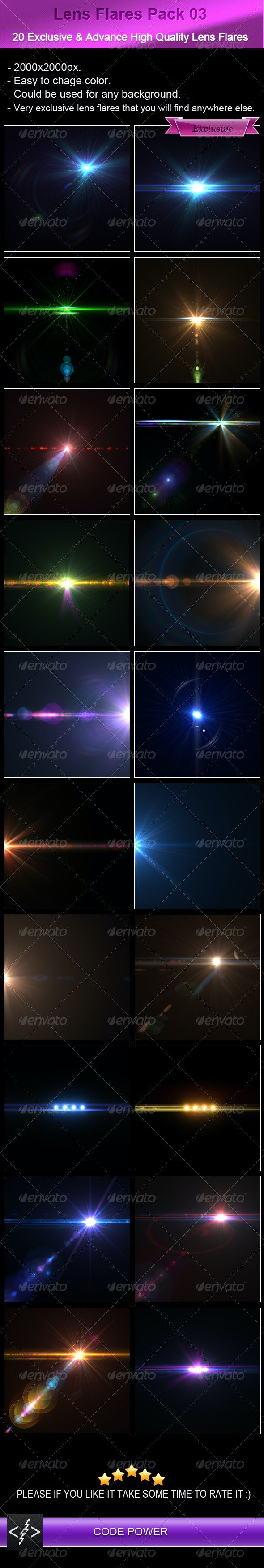 Lens Flares Pack 03 - Decorative Graphics