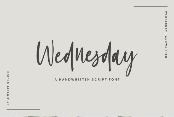 Wednesday - Hand-writing Script