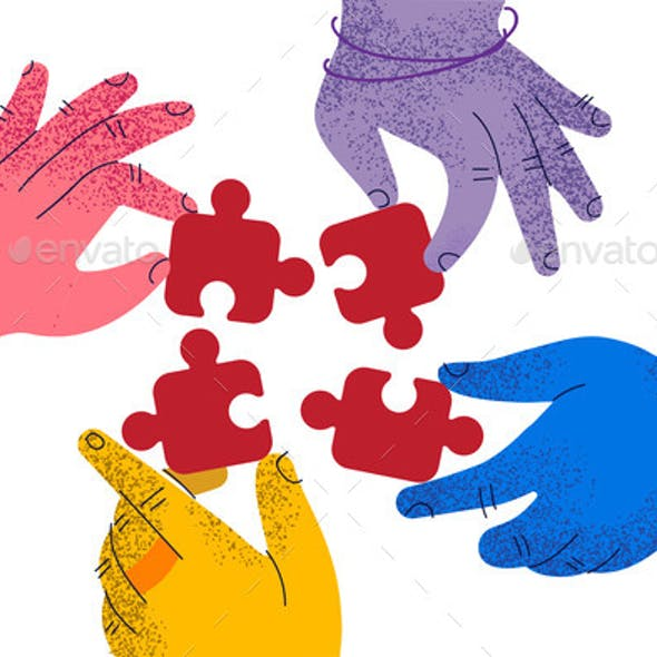 Teamwork Cooperation Business Collaboration