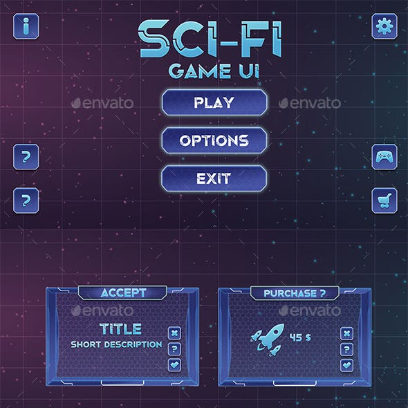 Sci-Fi-Game UI