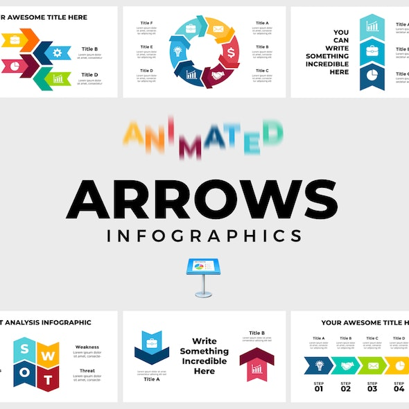 Arrows Infographics. Keynote Presentation - Keynote Templates Presentation Templates