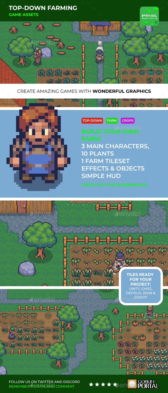 Top-down Farming - Game Kits Game Assets