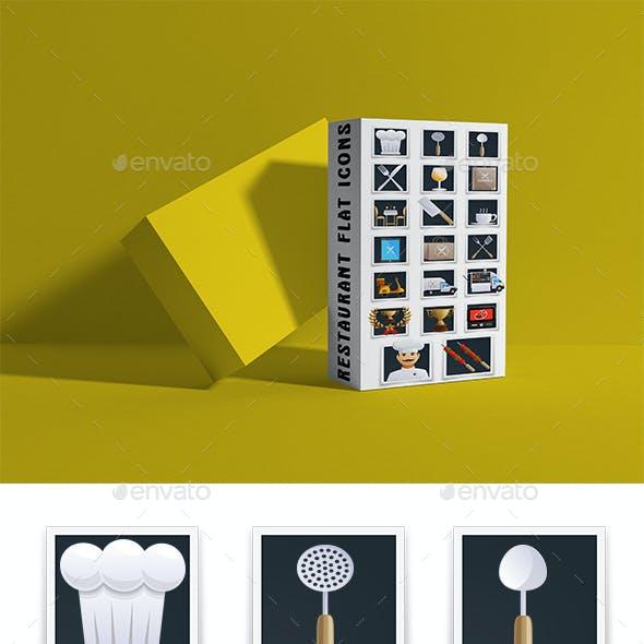 Restaurant Flat Icons