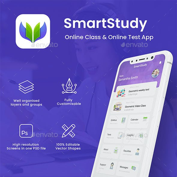 Online Exam for School & Academy App UI Kit | SmartStudy