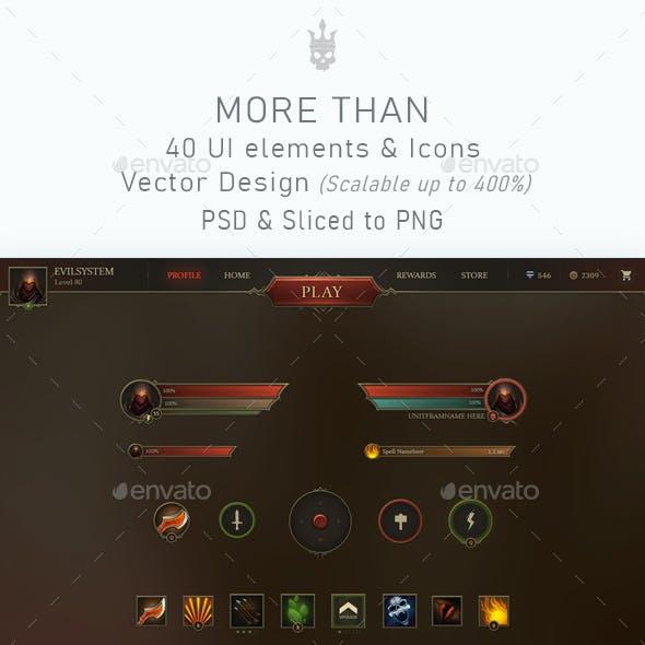 Darkness Game UI