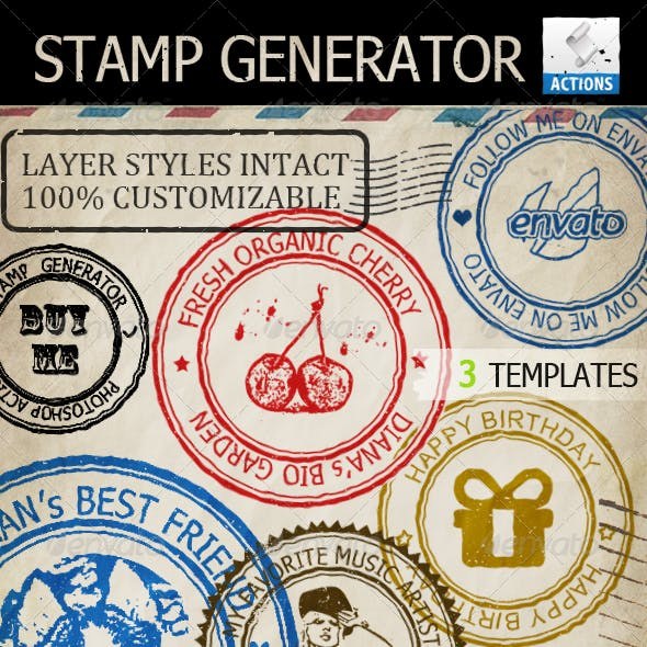 Stamp Generator Graphics Designs