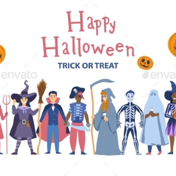 Halloween Party Background Poster or Celebration