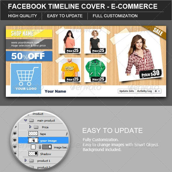 Facebook Timeline Cover E-Commerce