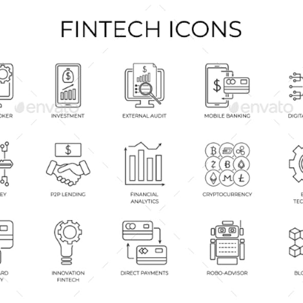 Financial Investment and Internet Banking Icon