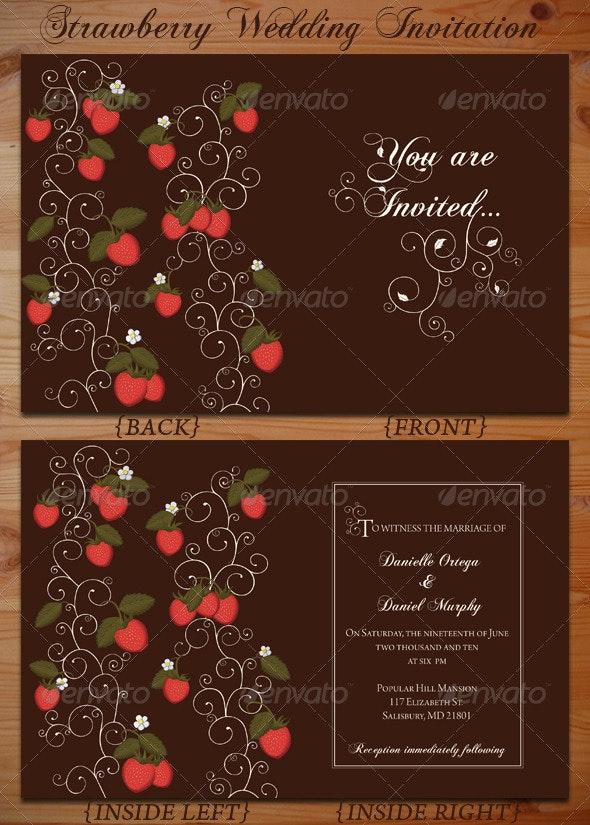 Strawberry Wedding Invitation  - Weddings Cards & Invites