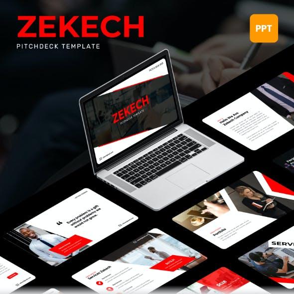 Zekech - Pitch Deck PowerPoint Template