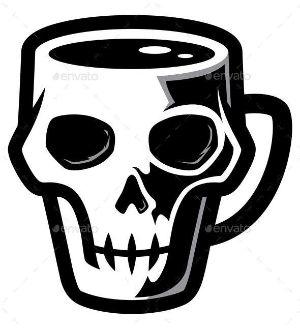 Skull Coffee Mug - Miscellaneous Vectors