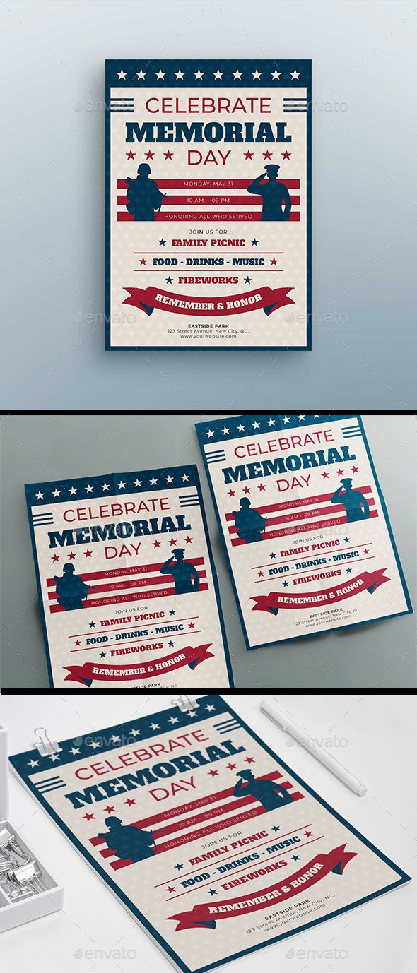 Memorial Day Flyer Template - Events Flyers