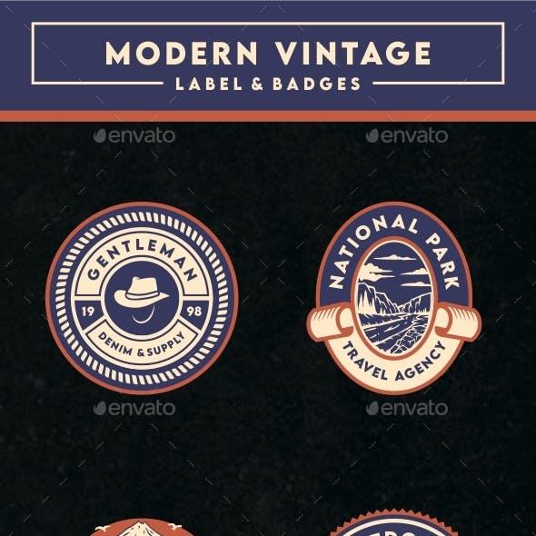Modern Vintage Label & Badges Vol. 3