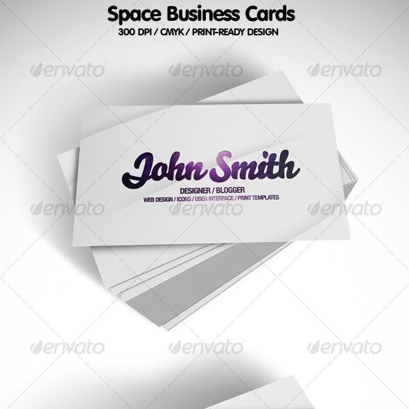 Space Business Cards