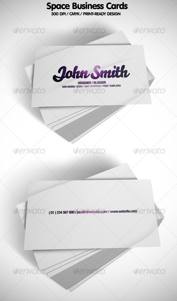 Space Business Cards - Corporate Business Cards
