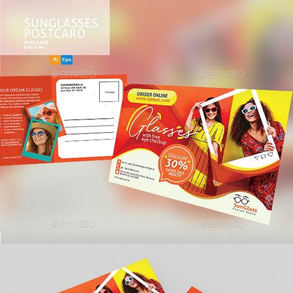 SunGlasses Fashion Store Postcard Template