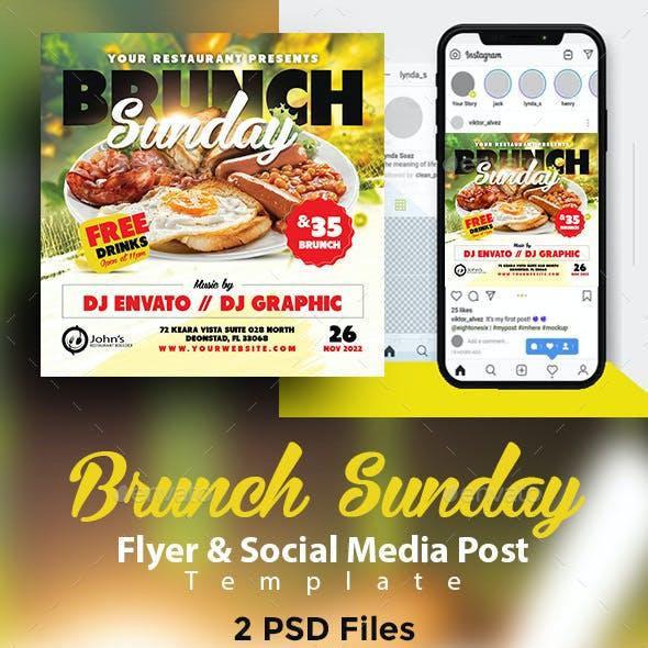 Brunch Sunday Flyer & Social Media Post