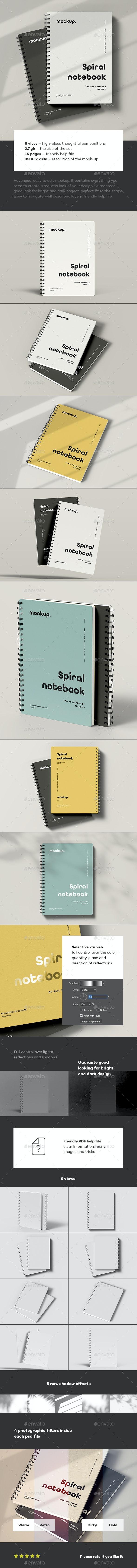 Spiral Notebook Mock-up - Stationery Print