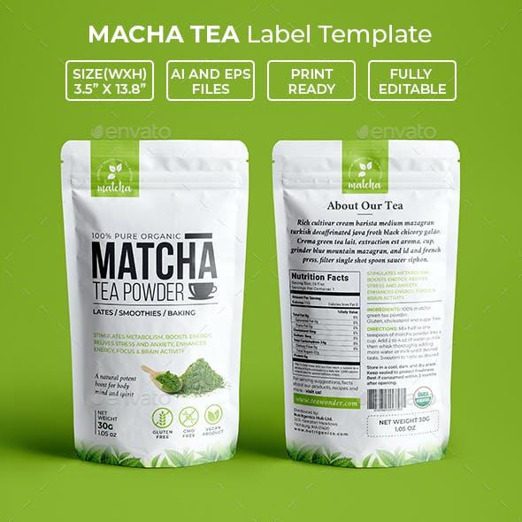 Matcha Tea Powder Packaging