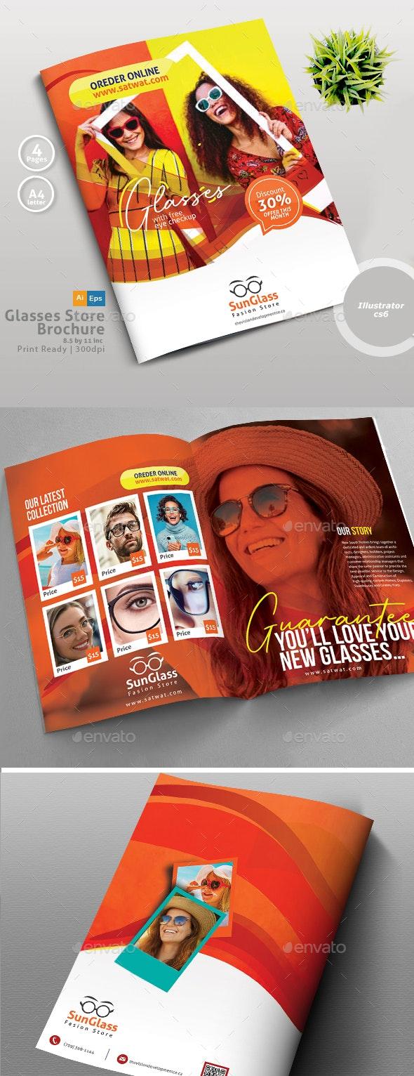 SunGlasses Fashion Store Brochure Template - Brochures Print Templates