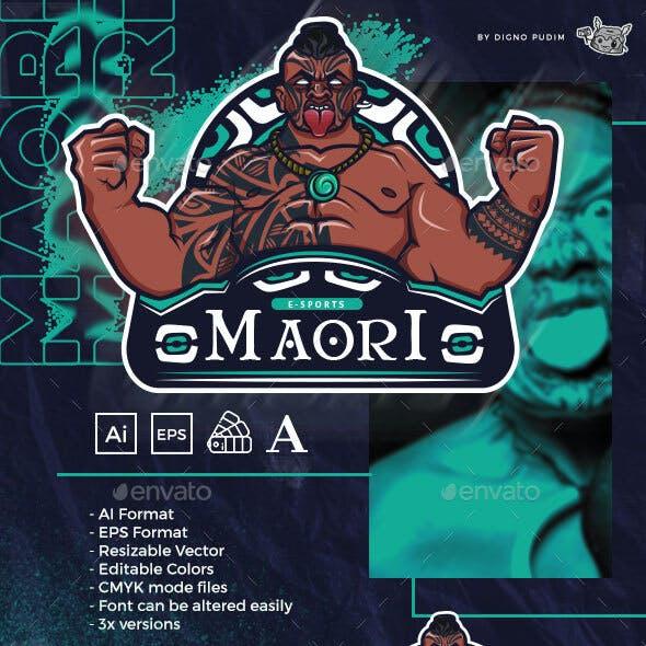 Sports Mascot Logo Warrior Maori