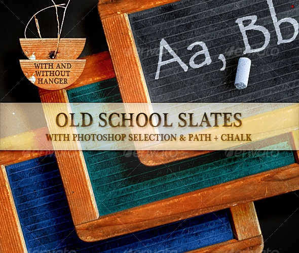Old School Slates - Home & Office Isolated Objects