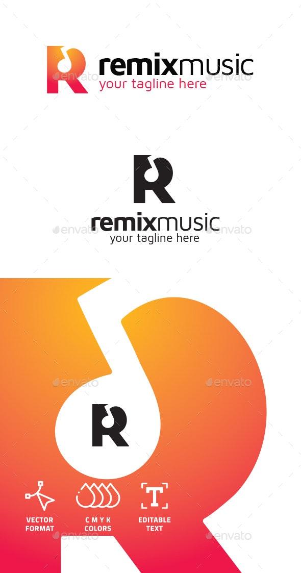 R Letter Logo - Remix Music Logo - Letters Logo Templates