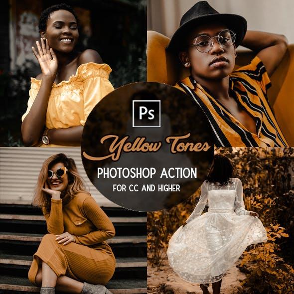 Yellow Tones - Photoshop Action