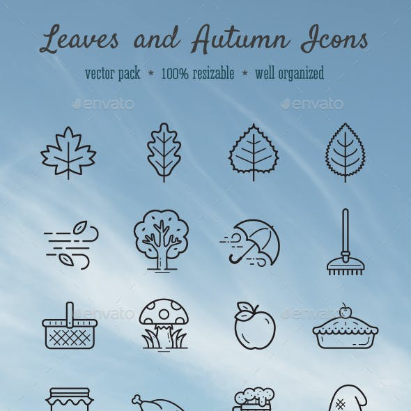 Leaves and Autumn icons