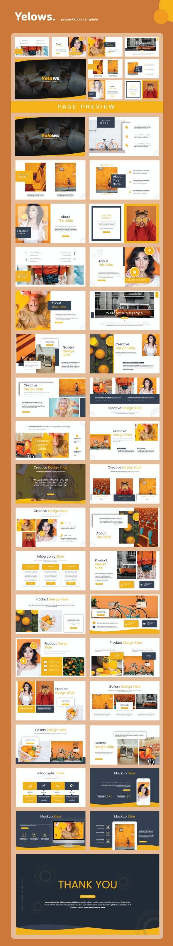 Yelows PowerPoint Templates - Creative PowerPoint Templates