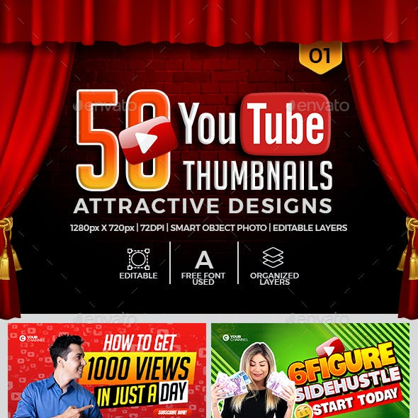 50 YouTube Thumbnails