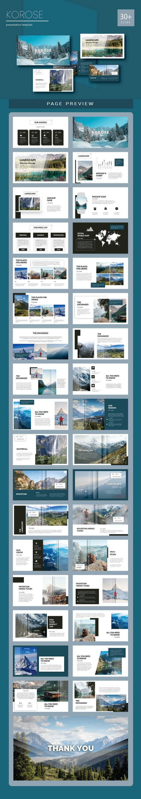 Korose Google slide Templates - Creative PowerPoint Templates
