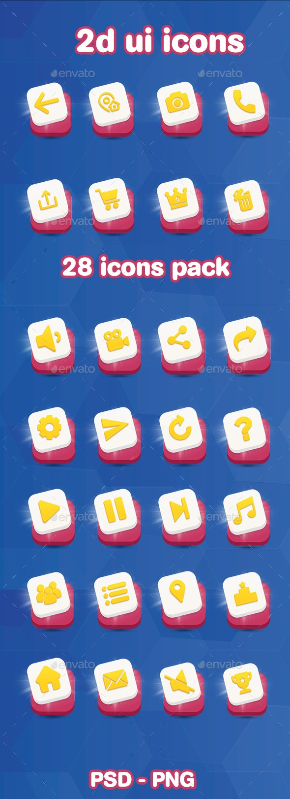 2d Game UI Icons - User Interfaces Game Assets