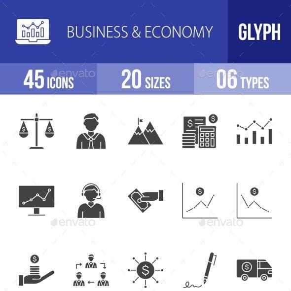 Business & Economy Glyph Icons