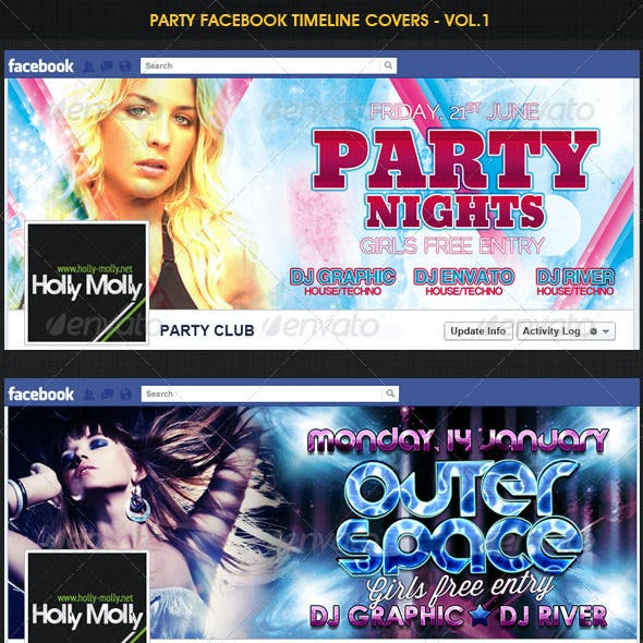 Party Facebook Timeline covers - Vol.1