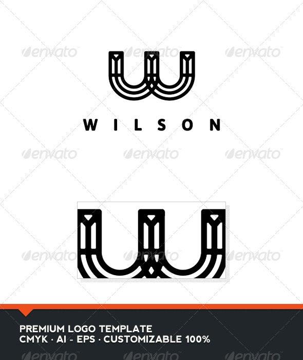 Wilson - Letter W Logo - Letters Logo Templates