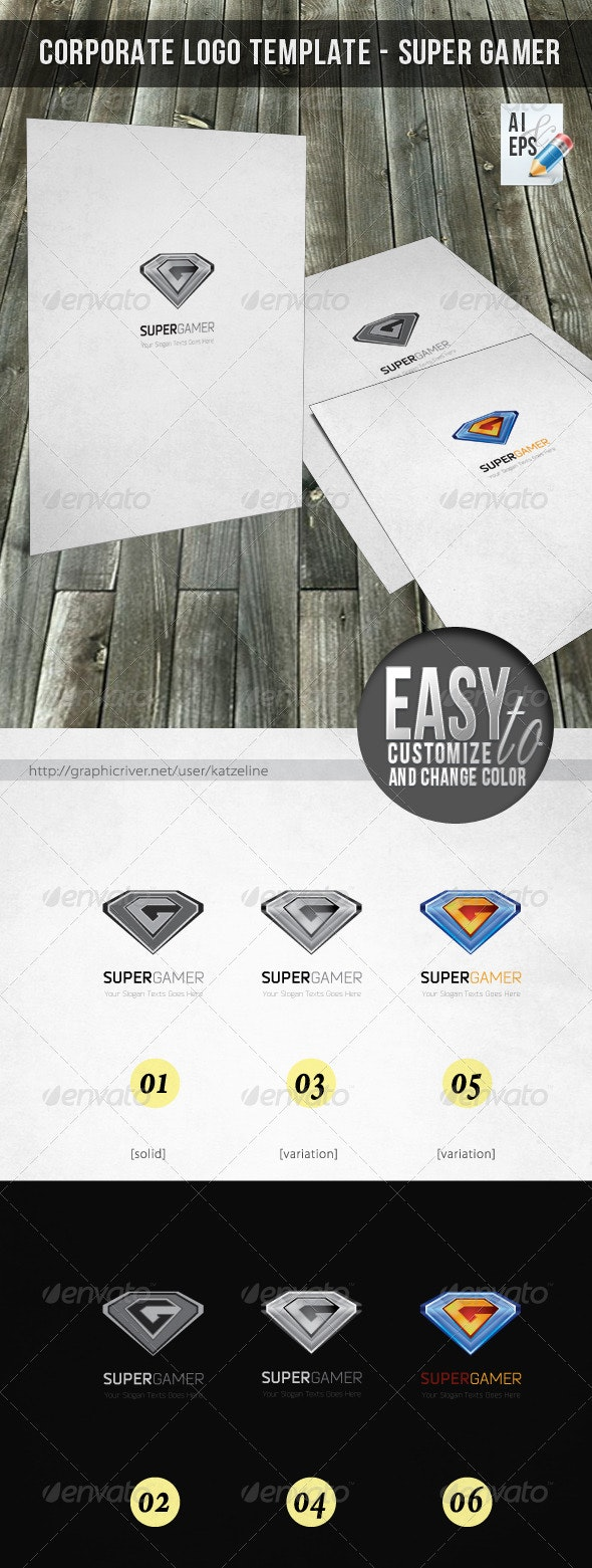 Logo - Super Gamer - 3d Abstract