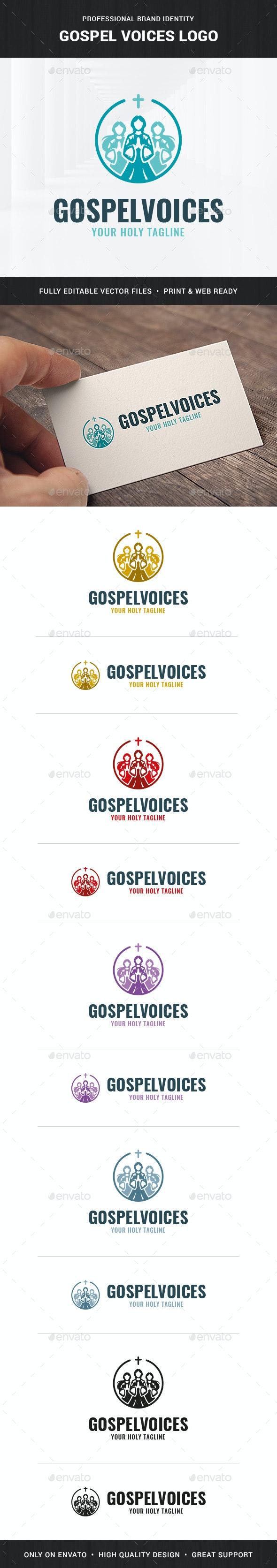 Gospel Voices Logo Template - Humans Logo Templates