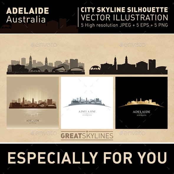 Adelaide Australia city Skyline set - Buildings Objects
