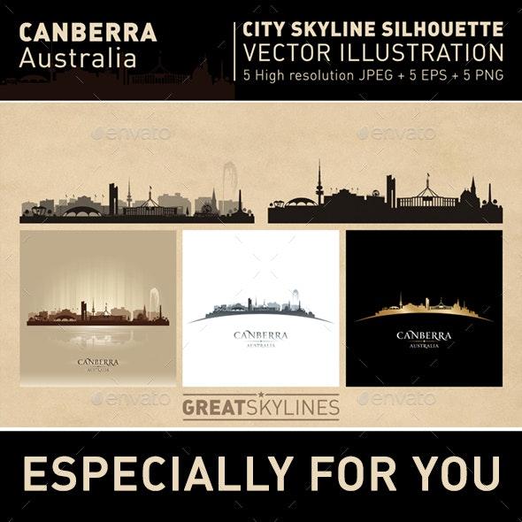 Canberra Australia city Skyline set - Buildings Objects