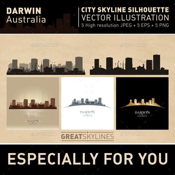 Darwin Australia city Skyline set - Buildings Objects